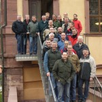 "Gruppenbild vor dem ""Josephsaal"", Kloster Bronnbach"